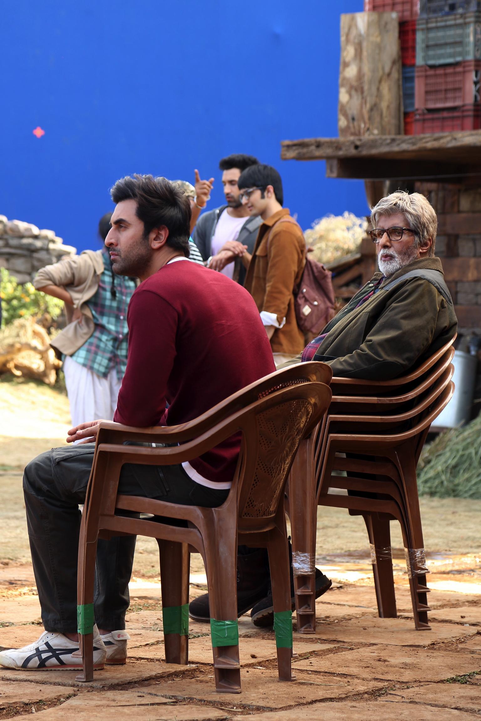 Image Image Shooting Amitabh Bachchan and Ranbir Kapoor