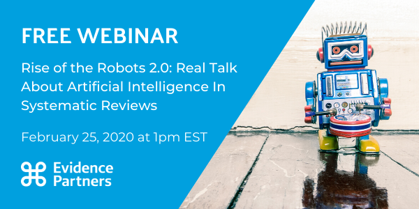 10 Minutes left to sign up for our #RealTalk  panel discussion #Webinar  with @www_healthecon . Were discussion the future of #ArtificialIntelligence  in #SystematicReviews . Register here:  https://hubs.ly/H0mZz620
