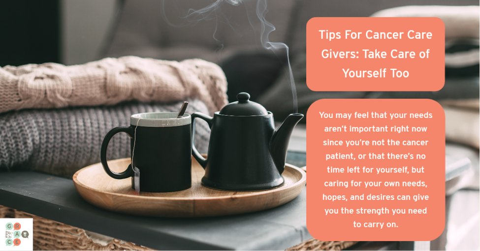 Taking time for yourself as a caregiver isnt selfish and is absolutely necessary.  #GRACE  #cancercare  #cancersupport  #caregiver  #standuptocancer  #strong