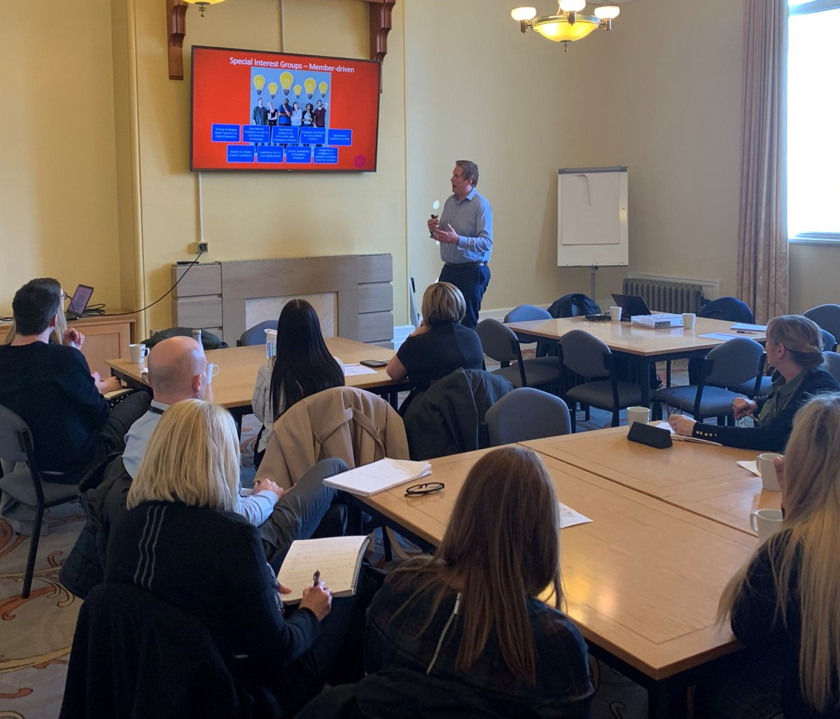 @ndowning1977  @Mullers1976  presenting TSA updates on Digital Shift, SIGs, #quality  #standards , #workforce  and sector priorities in #TECS  at our Regional Surgery in Yorkshire & Humber today. Next week Bristol with a #marketing  focus. Book your member place👉