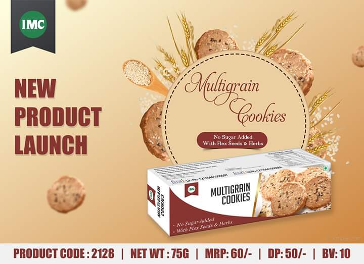 #Newproduct : Multigrain Cookies IMC Multigrain Cookies are a better alternative to regular cookies. IMC Multigrain Cookies are nutritious and healthy snacks that can be used with a cup of tea or coffee. #cookies  #healthy  #healthysnacks  #multigrain  #imcbusiness