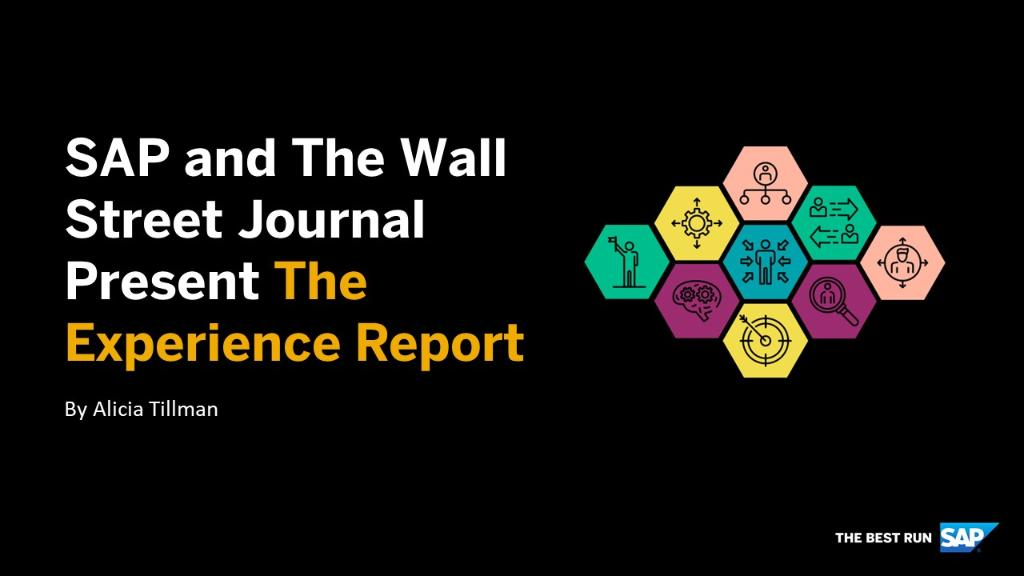 The Experience Report launches today! SAP CMO @aliciatillman shares more about the brand-new vertical, exclusively sponsored by SAP: http://sap.to/60181mrmu