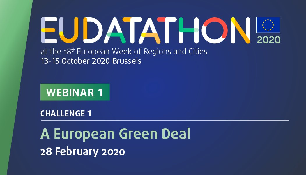 You want to submit your #app proposal for #EUDatathon 2020 🤔 but you need more info and ideas? 💡 Dont miss our coming #webinar 👇👇 Friday,2️⃣8️⃣ February 2020 Datasets for challenge 1: A European Green Deal 👉👉 lnkd.in/efB5DEP #eugreendeal #digitaleu #euregionsweek