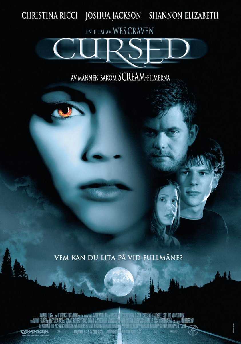 On February 25, 2005, CURSED was released in the U.S. #WesCraven #Cursed2005 #ChristinaRicci #JesseEisenberg #JoshuaJackson #JudyGreer #ShannonElizabeth #DetekMearspic.twitter.com/0JkHUruAtE