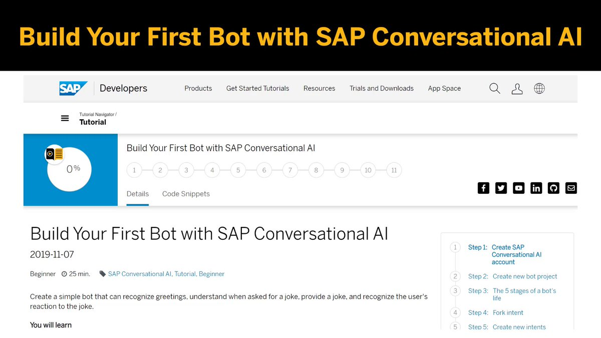 [Tutorial Tuesday] These steps will teach you how to build your first bot with @SAPCAI 📲 http://sap.to/60181mJZA