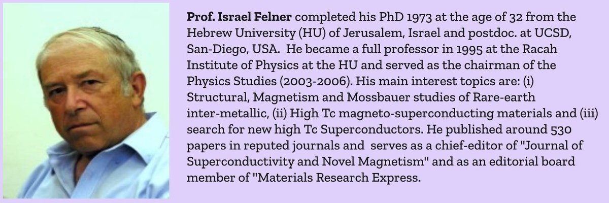 """We are proudly announcing our Honorable Keynote Speaker """"Prof. Israel Felner, #TheHebrewUniversity, Israel"""" for the #ICMSN2020 conference.   For more details, PS: https://icmsn2020.com   #MaterialScience #Nanotechnology #Engineering #functionalmaterials @InnovincConfpic.twitter.com/413NHFbQzj"""
