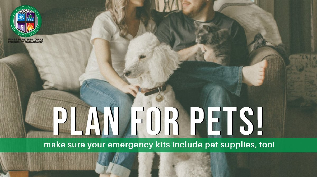 You should always have an emergency kit packed for your family, but don't forget about your pets! Make sure your emergency kit contains plenty of food and water for Fido, bowls for feeding, and a jacket and/or warm blanket in case you get stranded. #ResolveToBeReady #COSprepared