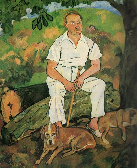 Andre Utter and His Dogs, 1932 #valadon #suzannevaladon