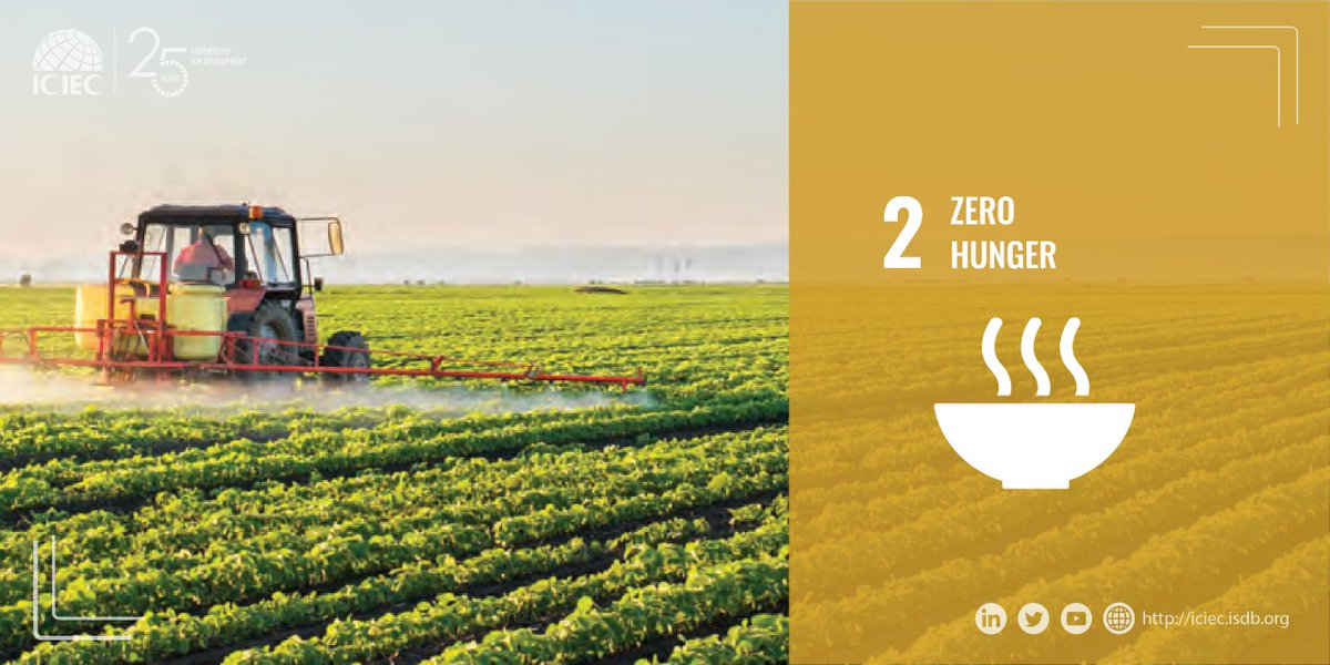 Agricultural labour productivity is a key driver of industry development. To bolster the agricultural sector in our member countries, and reach #SDG2, ICIEC is committed to helping our member countries secure the equipment they need to reach their development potential.