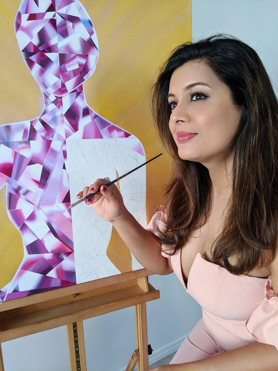 See the LIGHT in others.  Be LIT!  #LIT1DiamondPainting in the making. https://www.reenaahluwalia.com/ . #ReenaAhluwalia #Diamonds #PurpleDiamond #FancyColorDiamonds #FancyVivid #PurplishPink #PurpleandGold #DiamondArt #DiamondPainter #Painting #PaintingProcess #JewelryDesignerpic.twitter.com/jEF8WHLIi9