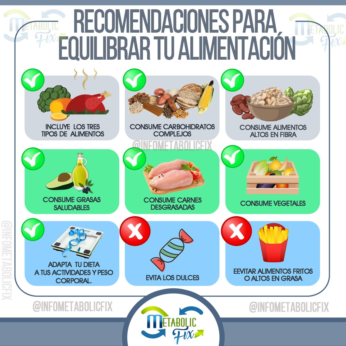 Recomendaciones para Equilibrar tu Alimentación #salud  #saludydeporte  #metabolismo       #vidasaludable    #lifestyle  #fitness   #EatClean    #HealthyEating  #HealthyRecipes    #Nutrition  #Paleo  #Vegan  #InstaHealthy  #BalancedLife    #IIFYM  #HealthyChoices  #FoodIsFuel  #Diet