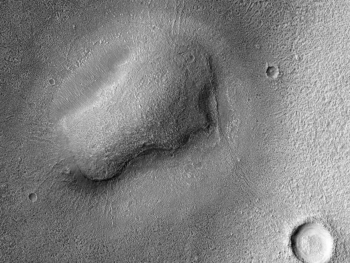 HiPOD 25.02.2020: Een eenzame berg in Arcadia Planitia  Nummer:ESP_036034_2170 Opnamedatum: 04 april 2014 Hoogte: 298 km  NASA/JPL/UArizona https://uahirise.org/hipod/nl/ESP_036034_2170… #Mars #NASA #Dutch #Nederlands #astronomie