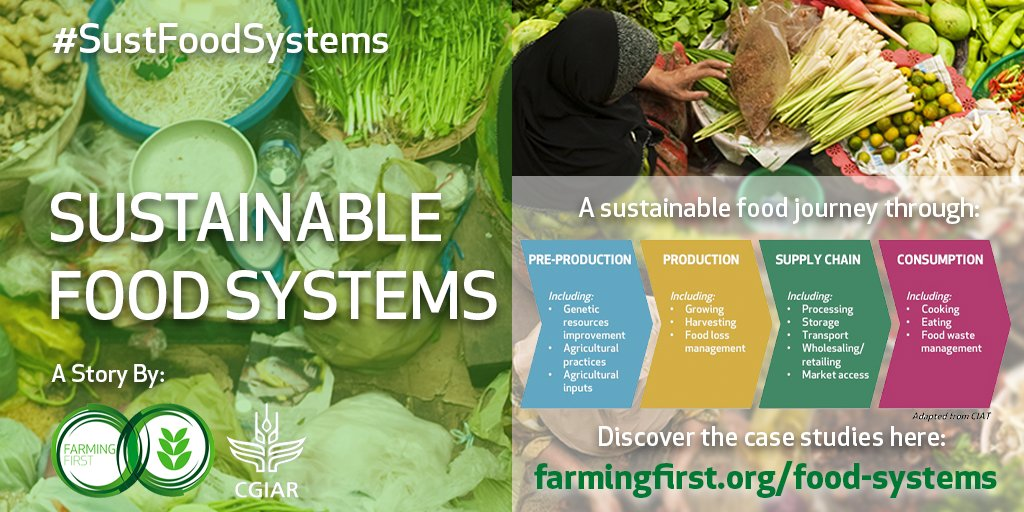From #genebanks & early warning systems to #solar-powered refrigeration and improved cookstoves, @CGIAR & @FarmingFirst are highlighting innovations for more sustainable food systems around the world. Explore these solutions and more --> http://farmingfirst.org/food-systems #SustFoodSystems