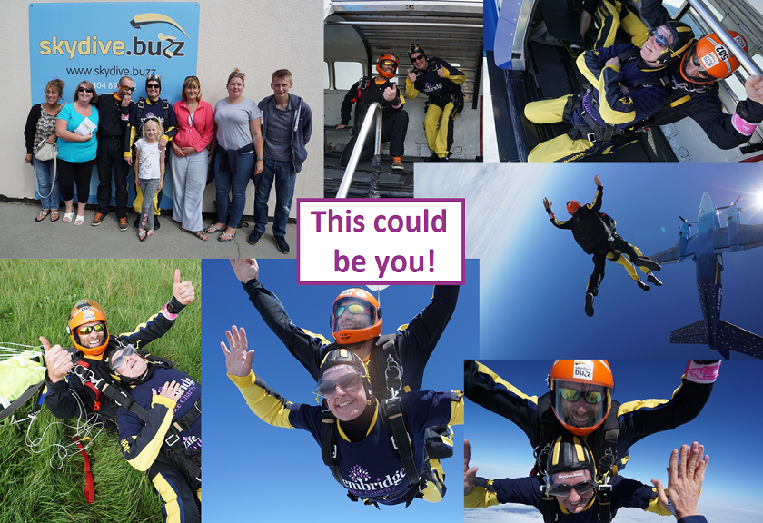 AAAAAHHHHH! <- Would you like to make that sound while jumping out of a plane at 10,000ft? A growing team from across @CLCHNHSTrust are taking to the skies on Friday 1 May for a mass skydive! Read about joining them https://t.co/oOX8tXMVWj or sponsor at https://t.co/b6VS1xFFu7