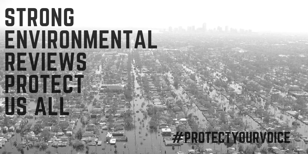 Whether it's the construction of a bridge, a pipeline, a freeway, a rail yard or a port expansion, NEPA keeps our communities safe & healthy. The @whceq wants to strip this policy and take our communities' voices away. We can't have that. #ProtectYourVoicepic.twitter.com/DRn38deROu