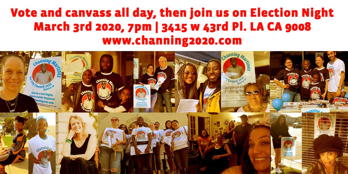 RSVP TODAY:  join us on Election Night March 3rd - https://mailchi.mp/dbe83da34eba/12-components-of-victory-channing-martinez-for-city-council-10th-district-campaign-12215095 …pic.twitter.com/JW5uu5iSIO