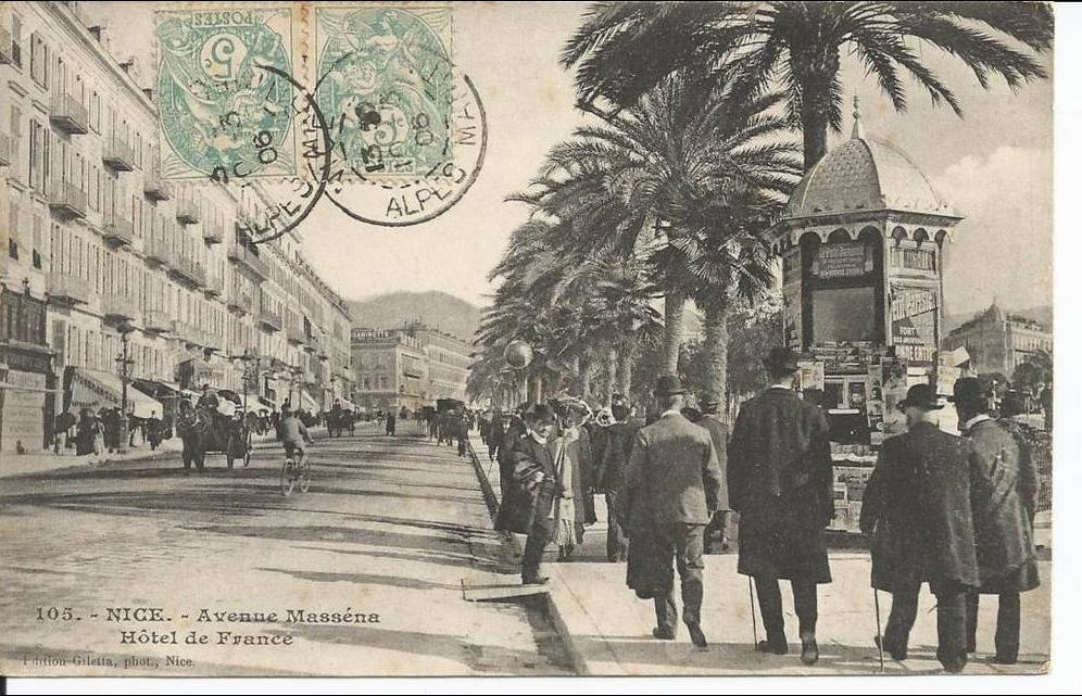 #TDF2020 Stage 2 leaves from #Nice to head inland. The 1st #TDF here was in 1906, where René Pottier won his 4th stage en route to his only @LeTour win. 1906 Nice was a thriving town of ~120k people - only 2 years earlier, the Promenade des Anglais was extended. @Nice_Tourisme