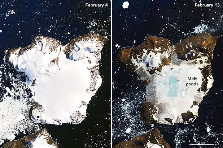 January was the warmest ever in 141 years of record keeping. This month, the heat wave that sent temperatures soaring in Antarctica to 65°F melted nearly 20% of seasonal snow accumulation on Eagle Island's ice cap.  These trends are alarming, and becoming alarmingly too normal.