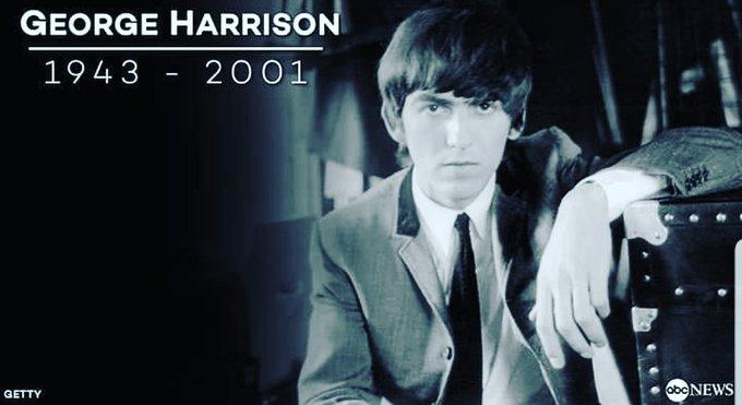 Happy 77th birthday to george harrison.