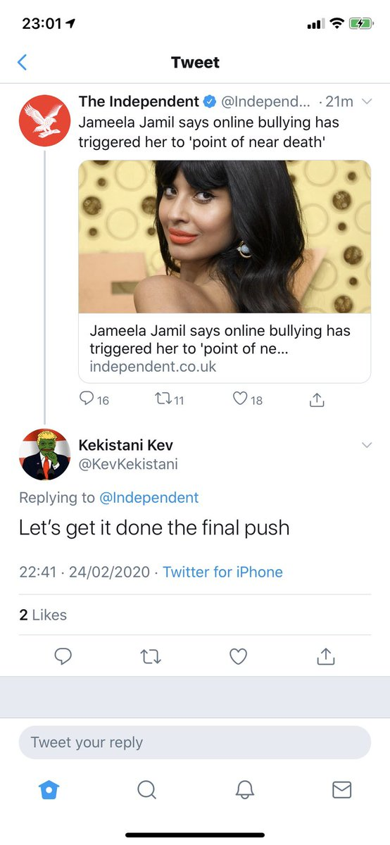 And there's more. What has humanity become? No wonder there's so much mental health stigma. There's no point campaigning to #BeKind when the majority of humanity don't have the brainpower to do it. #mentalhealth #stopbullying #jameelajamil #Twitter