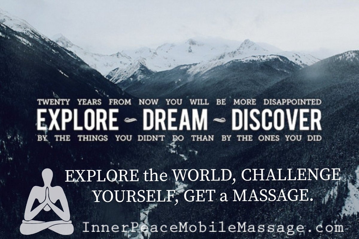 20 years from now youll be more disappointed by the things you didnt do than by the ones you did. #explore  #dream  #discover  #world  #challengeyourself  #getamassage  #massagetherapy  #inhomemassage  #innerpeacemobilemassage