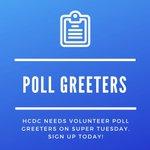 Image for the Tweet beginning: We need volunteer Poll Greeters
