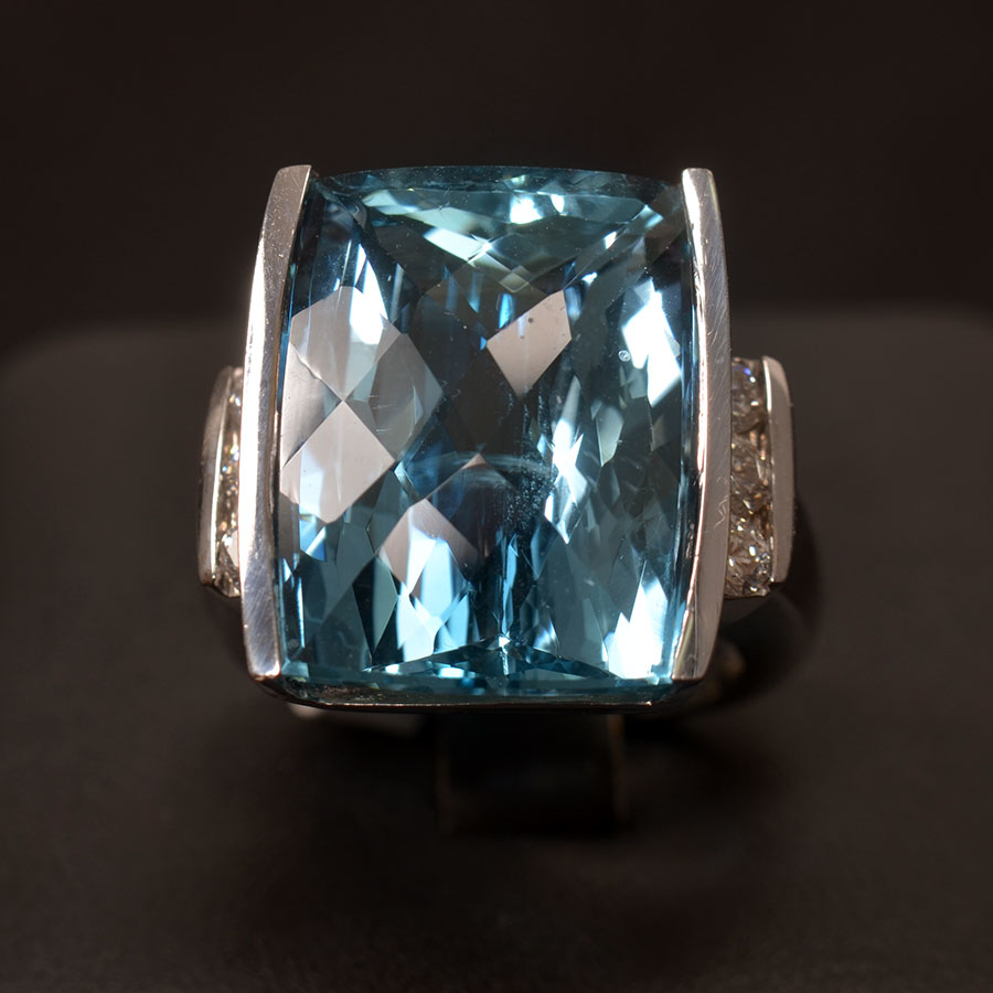 It's Topaz Tuesday at John Wallick Jewelers in Sun City, AZ. Celebrate the day with this stunning14K white gold, blue topaz and diamond ring:  #johnwallickjewelers #TuesdayThoughts #topaz #topazring #topazjewelry #jewelry #bluetopaz #diamond #diamondring