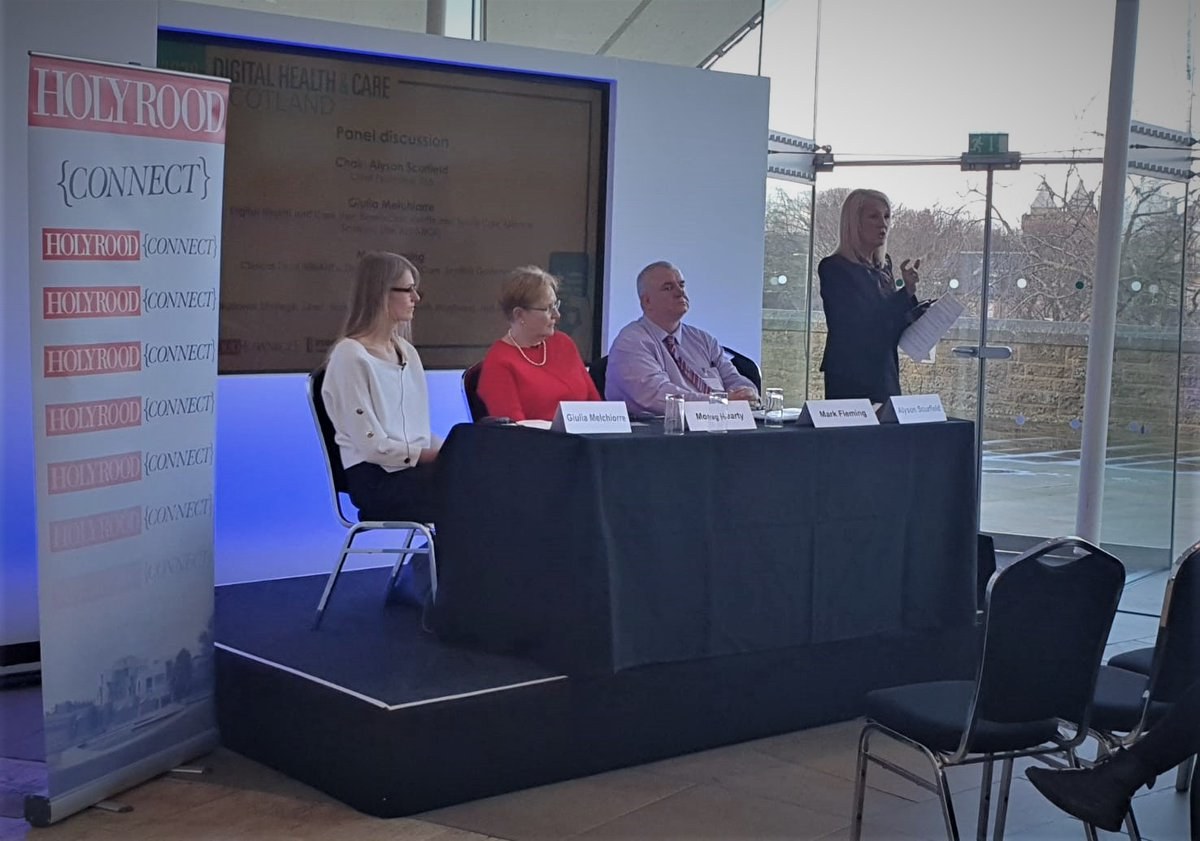 @TSAVoice  is all over the North today @AlysonScurfield  chairs panel discussion @HolyroodConnect  Connected Citizens: The Role of Mobile Technologies in Empowering Citizens -- accelerating towards a #digital  health and #socialcare  reality in Scotland. More tomorrow..#TECS  #tech