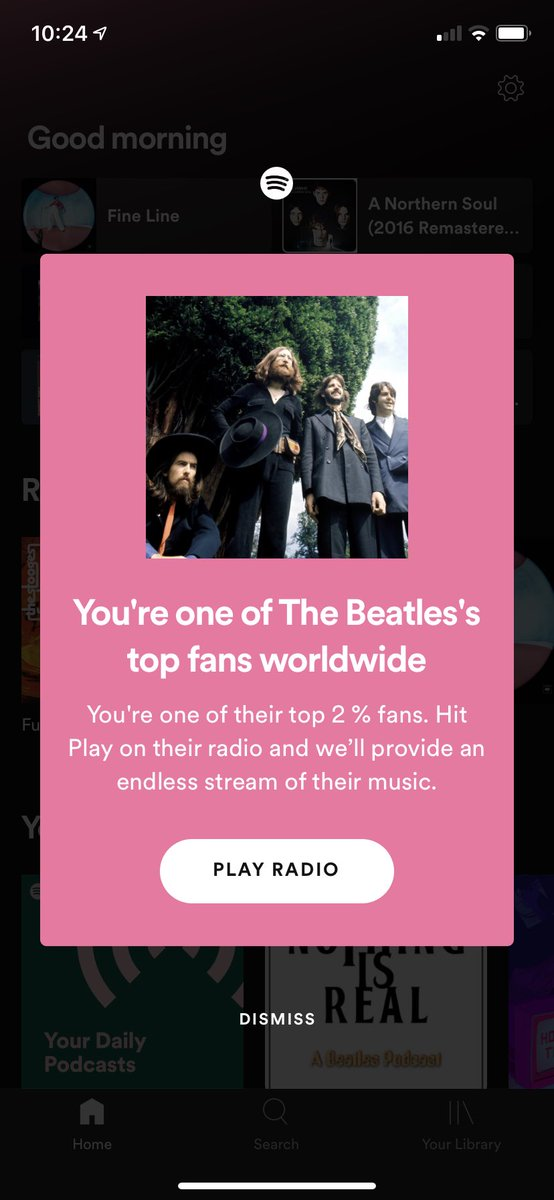 Spotify didn't have to read me this morning when I'm just trying to listen to the new Tame Impala lol