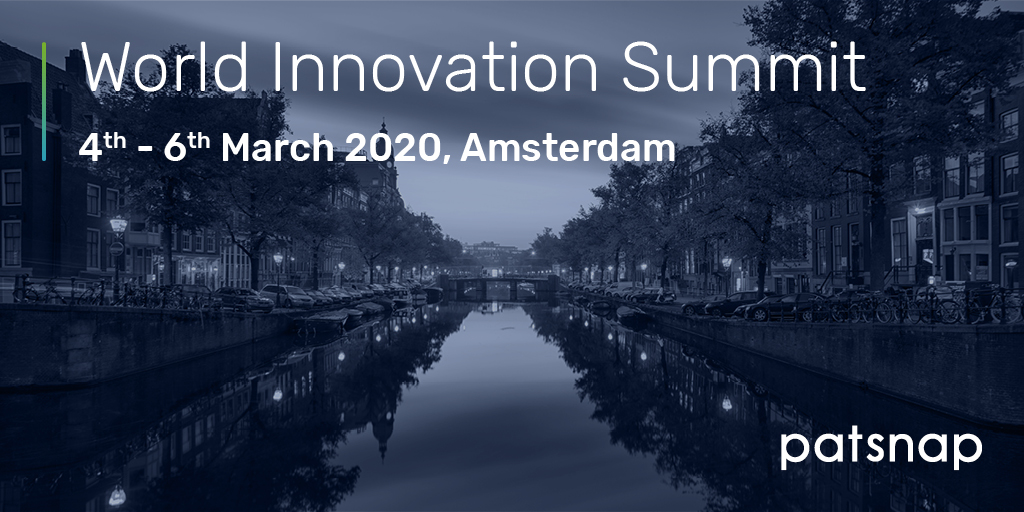 Planning on attending World #Innovation Summit next week? Stop by booth # 2 and chat with our team. We'll even share some insights from our recent Innovation Trends Report. #summit #report #events #IP # #WorldInnovationSummit2020 #Amsterdam