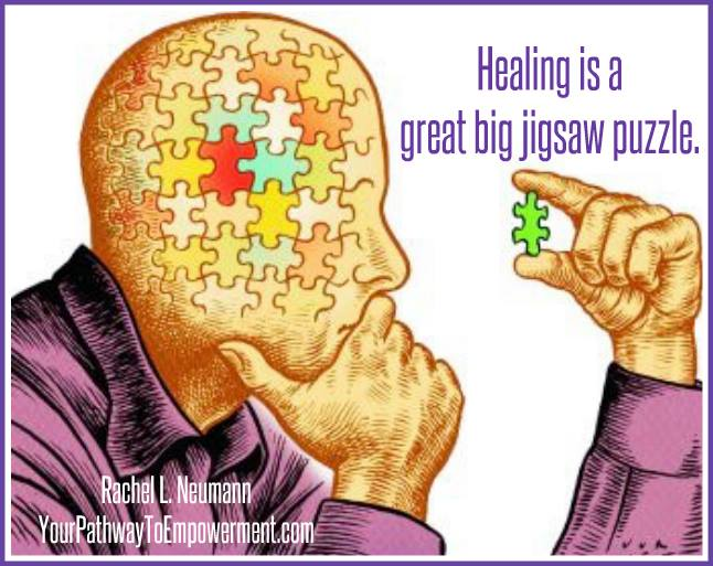 #Healing  is a #great  big jigsaw #puzzle . -Rachel L. Neumann  #MentalHealth  #Depression  #Anxiety  #Burnout  #Struggle  #YouAreNotAlone  #SickNotWeak  #Wellness  #Wellbeing  #Health  #Hope  #MotivationalQuotes  #Inspiration  #YouGotThis  #Mindset  #HaveFaith  #BetterDays  #SpreadTheWord  #Strong