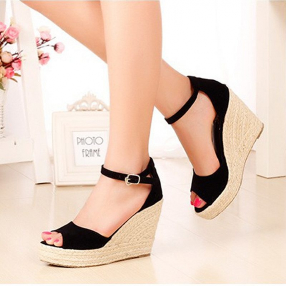 #igers #tagsforlikes Fashion Bohemian Summer Peep-Toe Women's Platform Shoes