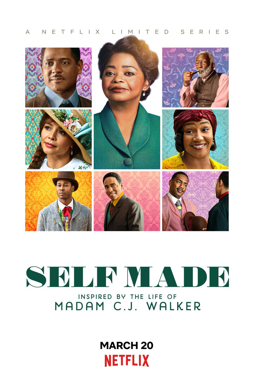 #SelfMadeNetflix is out March 20th! So proud to be apart of this project about Madam CJ Walker!! @strongblacklead