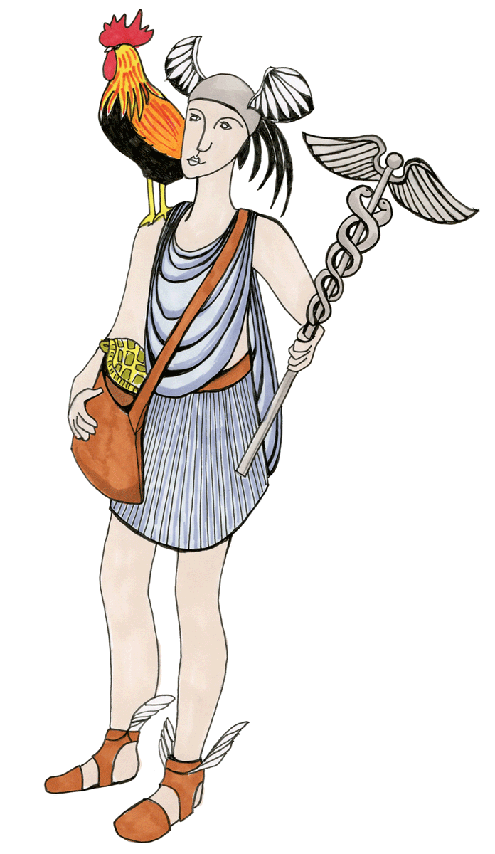 Greek myths: A God with winged sandals who could move between the mortal and the divine worlds, #Hermes is the protector of travellers, thieves, and commerce. He also invented the lyre.  http://bit.ly/36SUZQj #greekmyths #Hermes #ancientgreece pic.twitter.com/A5K5YcLuD0