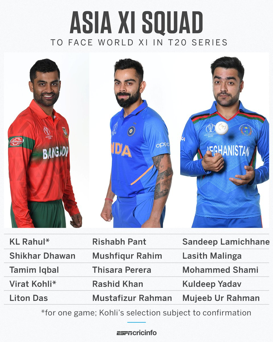 So..#RishabhPant who can't make it Team India XI in a T20..makes it to Asia XI squad. Or will he again be a second wicketkeeper to #KLRahul. Three keepers in squad though.  Pix credit: cricinfo<br>http://pic.twitter.com/AMylLzwihN
