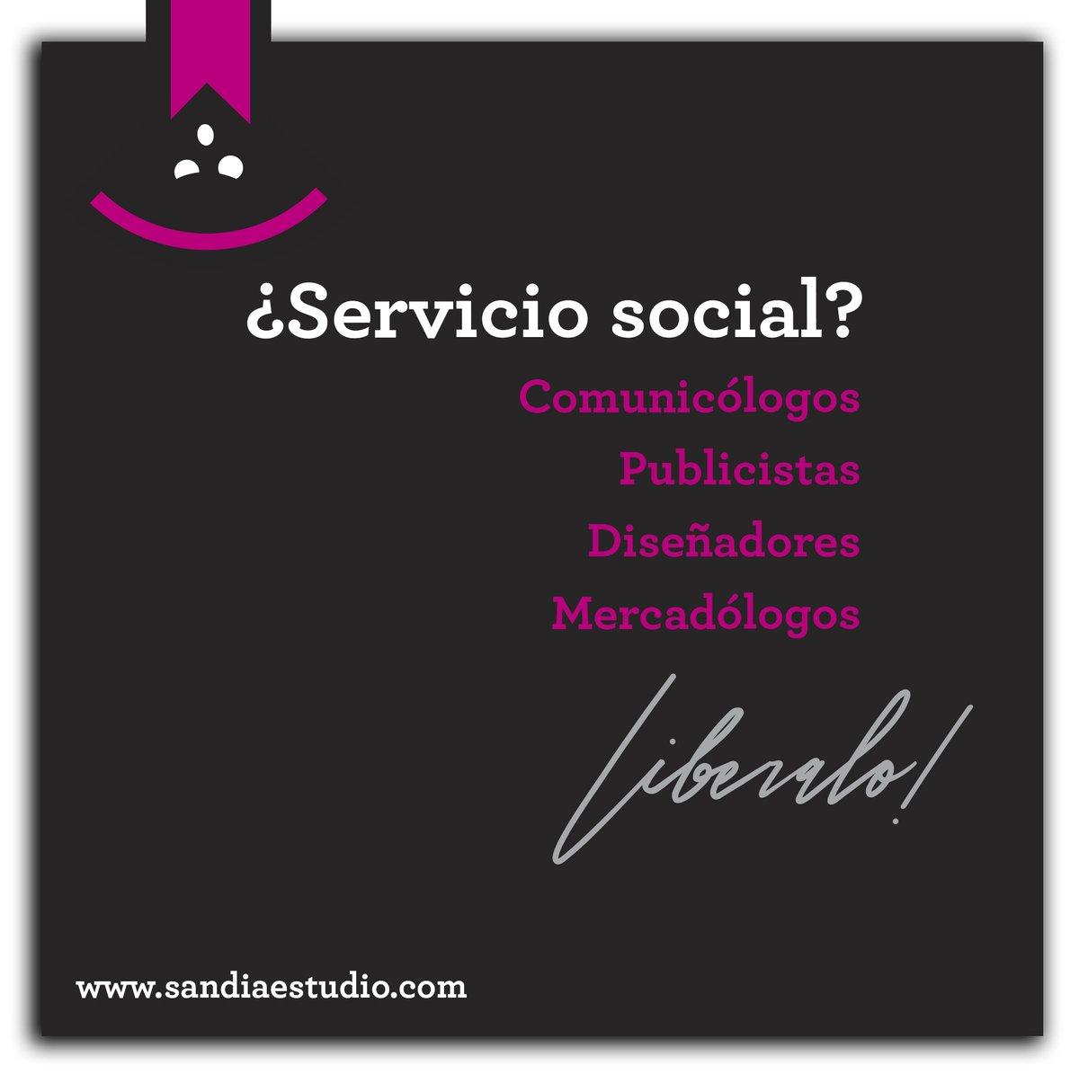 ⚠ Únete a nuestro equipo de trabajo y realiza tu #ServicioSocial con nosotros.  #CDMX #MktgAgency  ✉info@sandiaestudio.com ☎ 55 8435 4093 https://t.co/wqNqHzxMLB