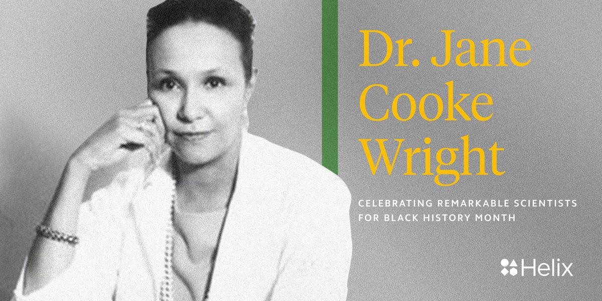 Did you know?  Dr. Jane Cooke Wright was a pioneering cancer researcher and surgeon. She is credited with developing the technique of using human tissue culture rather than laboratory mice to test the effects of potential drugs on cancer cells.  #BlackHistoryMonthpic.twitter.com/2BF9RDUYng