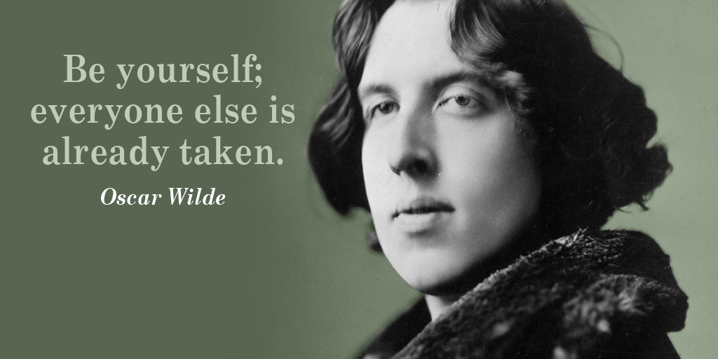 Be yourself; everyone else is already taken. - Oscar Wilde #quote #ThursdayThoughts pic.twitter.com/98F0fWw4OB