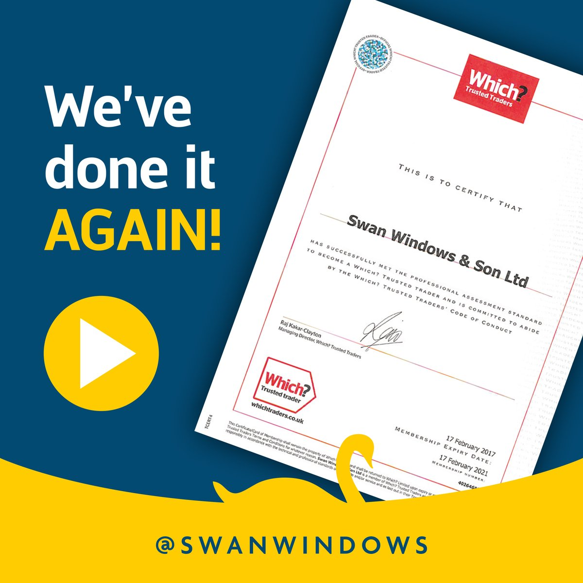 We're delighted to have been awarded the Which? Trusted Trader certificate for another year.   #windows #homeimprovement #rickmansworth #ricky #newhome #construction #conservatory #hertfordshire #sashwindows #which? #trustedtrader #which?trustedtrader