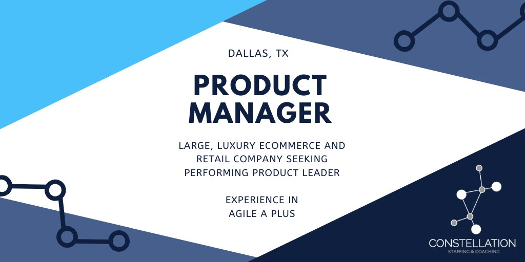 Do you have experience in #luxury #retail & #productmanagement? We're looking for a high-performing #productmanager to lead an #agile #ecommerce team in Dallas. #Messageme or #applynow:  #fashion #ecom #fashtech #digitaltransformation #agilesoftware
