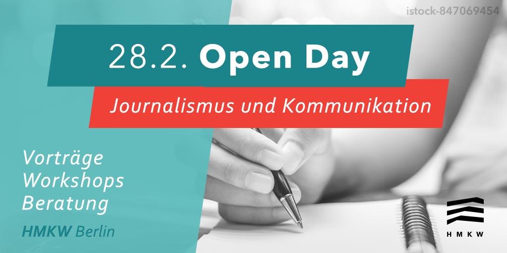 Freitag! #journalismus #unternehmenskommunikation #openday #hmkw #berlin Programm & Anmeldung: http://ow.ly/lbzd50yvwKL #hmkwberlin #studymedia #bachelor #master #studiumpic.twitter.com/xSQBvA4FYk