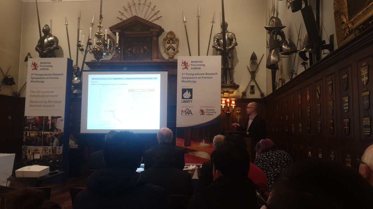 Our own James Lelliot talking about hydrogen diffusion in ultra high strength steels at the @MPI_UK 3rd Postgraduate conference in ferrous metallurgy. @m2aSwansea #MaterialsSwansea #FerrousMet3 #beengettingmyhastagswrongpic.twitter.com/fdkQUj0840