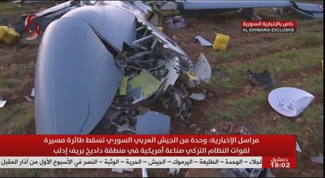 SYRIA: Turkish Anka-S drone shot down over Dadikh.
