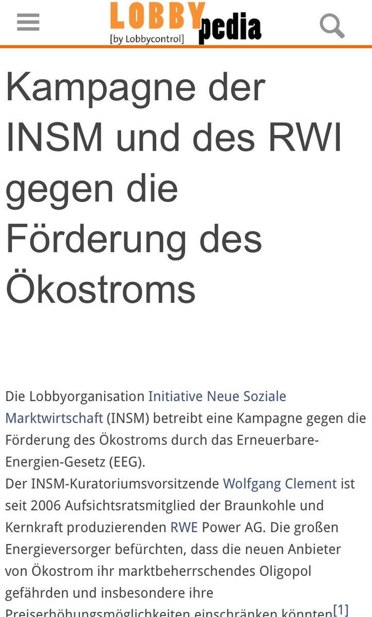 """Würden Sie Handwerksfehler einräumen, @handelsblatt? 2 """"Kritiker a. d. Fachwelt"""", die Sie wählten, gehören zur Anti-Klima-Lobbykampagne gegen das EEG mit alter Fehde gegen Fr. Kemfert. Doku personeller & finanzieller Verwicklung von #RWI #INSM & #RWE (!) https://lobbypedia.de/wiki/Kampagne_der_INSM_und_des_RWI_gegen_die_Förderung_des_Ökostroms…pic.twitter.com/cgNrds5SCB"""