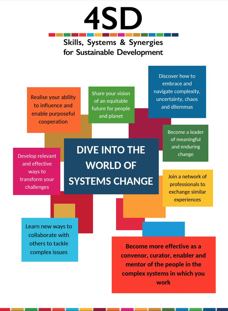 4SD encourages #LivingSystems Leadership, which enables more effective engagement across sectors. We foster integrated #people-centred action in ways that are inclusive, connecting stakeholders and offering the promise of generative futures for all: 4sd.info #SDGs