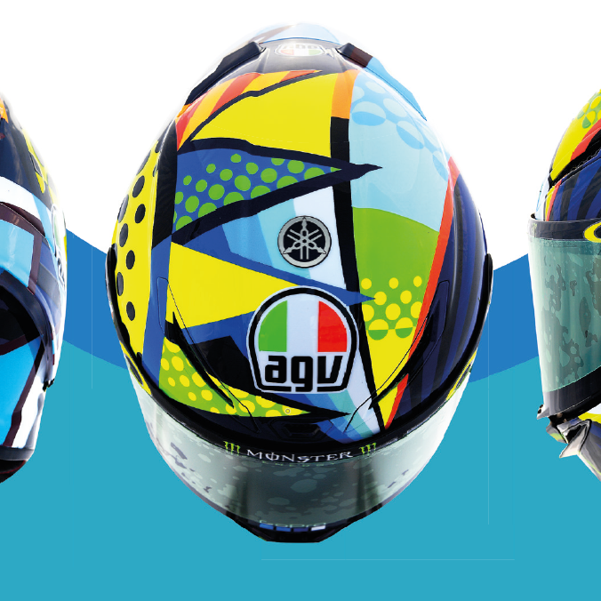 Agv On Twitter The Agv Pista Gp Rr Soleluna Is An Exact Replica Of The Helmet Worn Valeyellow46 During The 2020 Motogp Winter Test With 100 Carbon Fibre Shell Pro Spoiler And Full