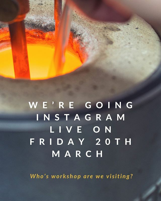 We're going Instagram live on Friday 20th March. Who are we visiting at their workshop?! #finejewellery . . . #bespokejewellery #jeweller #jewelleryworkshop #casting #cheshire #jewellery #diamondjewellery