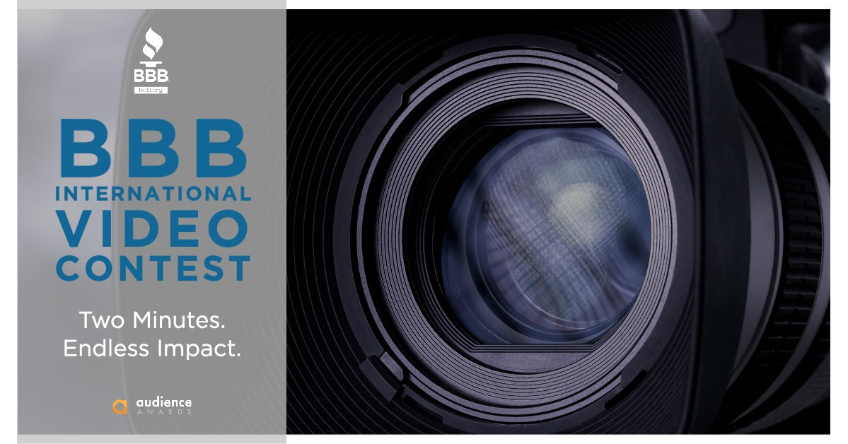 Calling all filmmakers!  BBB, along with the Audience Awards, is hosting an international video contest focusing on inspirational business stories.  Contest Details https://theaudienceawards.com/bbb/2020bbbinternationalvideocontest…pic.twitter.com/ymxPwL2WKT