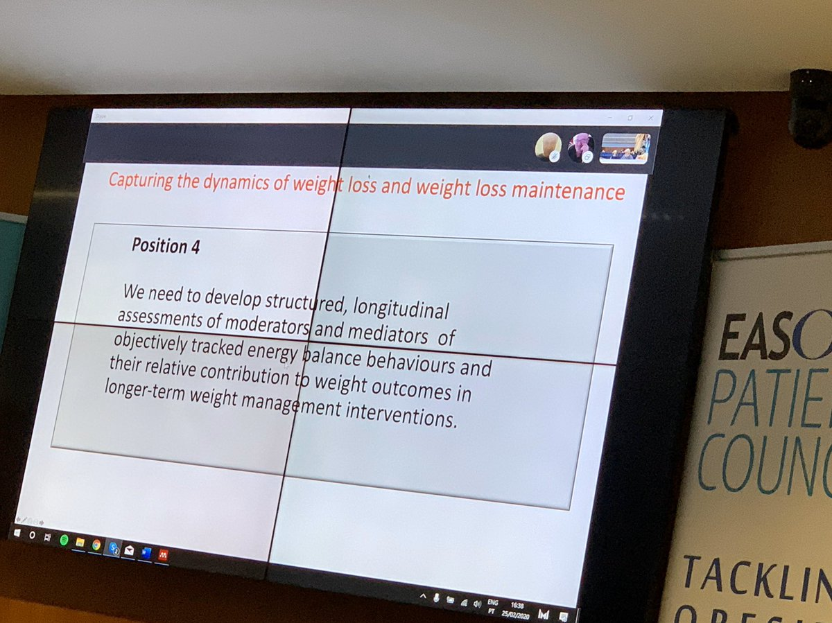 James Stubbs: we need new tools to track the impact of both interventions and biology on #weightmaintenance #EASOCOMs @NoHoWH2020 @EASOobesity @EU_H2020pic.twitter.com/o4mUaG7tp0