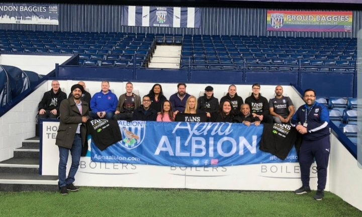 Another brilliant #FansforDiversity Guidance Group meeting complete  a massive thank you to @WBA & @ApnaAlbion for being superb hosts  also privileged to have @SanjayKickItOut & @daldarroch join us to discuss plans moving forward  #StrongerTogether<br>http://pic.twitter.com/cKHHFU6YJM